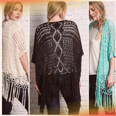 💥HOST PICK 11/11, 1/9💥CROCHET KNIT VEST Beautiful and trendy, these vests are the trend that never go out of style! They can be worn year round, tanks in the summer and turtlenecks in the winter, so cute! Cotton/polyester blend. tla2 Other