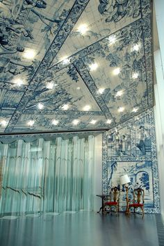 The interior of Rem Koolhaas's Casa da Música concert hall is lined with traditional azulejo tiles. (Photo: Luis Díaz Díaz) / Visit Porto and Casa da Musica (House of Music): Places In Portugal, Visit Portugal, Spain And Portugal, Portugal Travel, Portuguese Culture, Portuguese Tiles, Wonderful Places, Beautiful Places, Saint Marin