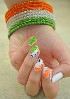 Show your patriotic side with Tricolor Nails Happy Independence Day Images, Independence Day Decoration, Independence Day Background, Indian Independence Day, Indian Flag Pic, Indian Flag Images, Indian Army, India Republic Day Images, Girl Hand Pic