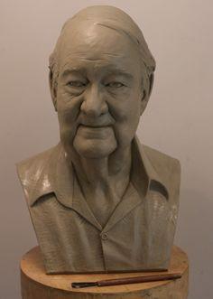 Neil Parkin. 'Chris' wax model Wax, Sculptures, Statue, Feelings, Portrait, Artist, Model, Headshot Photography