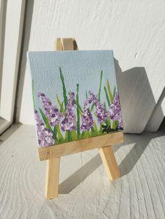 Lilacs - Mini Canvas Painting
