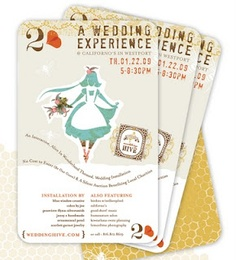 Alice in Wonderland WEdding Invitation Ideas