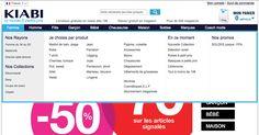 Site Kiabi - Plusieurs entrées intéressantes :  - Rayons (Femme du 34 au 52, Maternité, Grande taille) - Collections (Décontracté, Sexy, Coup de cœur, Citadin) - Produits (liste classique : jupe, robe...) - En ce moment - Promos