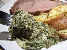 The Side Board ~ Steakhouse Spinach | Go Ahead... Take A Bite! #ChristmasDinner  #SpecialMeals  #HolidayMeals #HotDips #Gratin #Casseroles #HolidaySides #HolidayRecipes