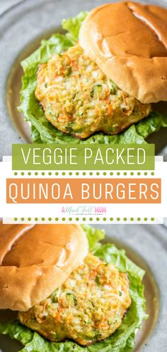 Veggie Packed Quinoa Burgers are a high-protein alternative to a burger! This quick and easy healthy meal is made with quinoa veggies and cottage cheese. Have a bite of this gluten-free family-friendly healthy recipe for lunch! Save this and try it! Vegetable Burger Recipe, Quinoa Veggie Burger, Easy Healthy Recipes, Vegetarian Recipes, Healthy Meals, Cheap Recipes, Easy Meals, Vege Burgers, Veggies