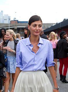 The lovely Giovanna Battaglia  //  #nyfw #spring2014 #streetstyle