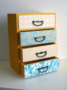 wallpapering/repainting furniture instead -and- jewelry boxes.