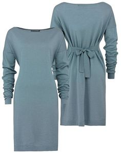 E53 Plain square dress