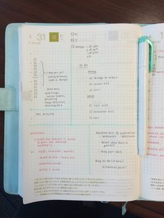 the SHU box: Hobonichi Planner: Daily Template