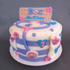 Doc McStuffins Inspired Birthday Cake