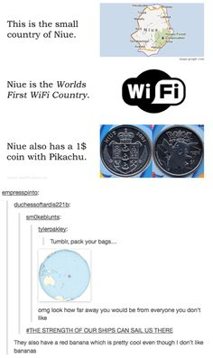 """""""Tumblr, pack your bags"""" and """"The strength of our ships can sail us there"""" omg Niue"""
