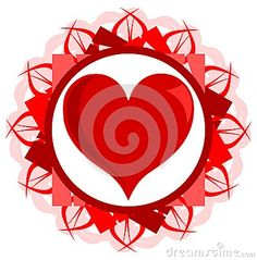 An heart on an abstract background in red tones. an idea to talk about love