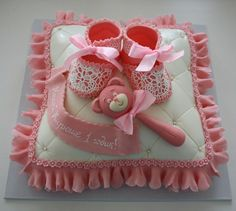 Baby Shower Cake Baby Shower Sweets, Baby Shower Parties, Torta Baby Shower, Baby Shower Themes, Bebe Shower, Baby Pillows, Cute Cakes, Sweet Cakes, Themed Cakes