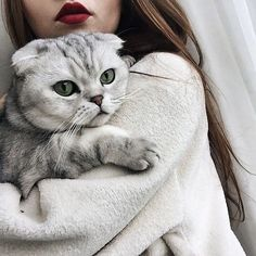 Cats like to act demure, but research shows that they truly do love their humans. While some cats seem to like and lean into human kisses Girl Photography Poses, Tumblr Photography, Crazy Cat Lady, Crazy Cats, Girl And Cat, Cat Aesthetic, Catgirl, Shooting Photo, Photos Voyages
