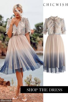 Free Shipping & Easy Return. Up to 30% Off. We Know It All Gradient Pleated Mesh Tulle Dress. @@tocestyle#outfit #clothing #fashion #casualoutfit #outfitidea #datingoutfit #dress #partydress Simple Dresses, Pretty Dresses, Beautiful Dresses, Look Fashion, Unique Fashion, Womens Fashion, Romantic Fashion, Mesh Dress, Tulle Dress