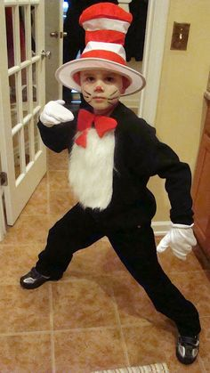 Cat in the Hat costume for Noah this year.@Jesslyn Chamberlin