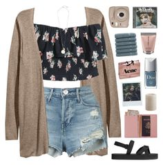 """""""~i see your true colors, that's why i love you"""" by emmas-fashion-diary ❤ liked on Polyvore featuring Hollister Co., 3x1, H&M, Witchery, Fujifilm, Royce Leather, Linum Home Textiles, Pier 1 Imports, Christian Dior and Josie Maran"""