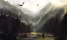 Faolan - Mist Of The Highlands [Epic Celtic Adventure Score] High Fantasy, Sci Fi Fantasy, Fantasy World, Skyrim, Fantasy Places, Fantasy Setting, Fantasy Kunst, Fantasy Landscape, Abstract Landscape