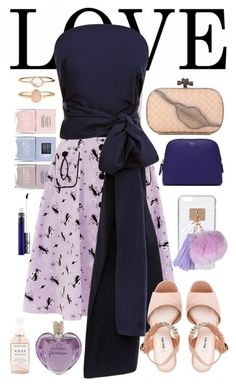 """love pink purple blue"" by riley-meow on Polyvore featuring Nails Inc., Voodoo Vixen, Rosie Assoulin, Bottega Veneta, Accessorize, Miu Miu, Vera Wang, Mulberry, Ashlyn'd and Herbivore"