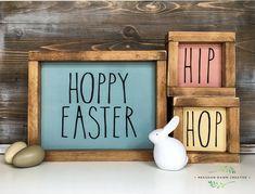 Rae Dunn inspired Easter Sign • Hip Hop & Hoppy Easter
