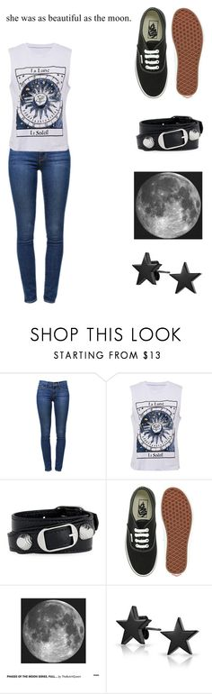 """Talking To The Moon"" by robertleewatson ❤ liked on Polyvore featuring Frame Denim, Balenciaga, Vans, Bling Jewelry, sun, Dark, moon and star"