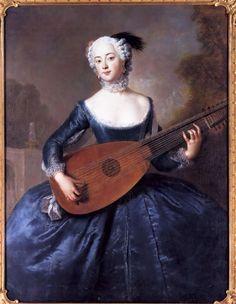Eleonore Louise Albertine, Comtesse von Schlieben-Sanditten, Freifrau von Keyserlingk, wife of Dietrich Cesarion. Antoine Pesne, 1745
