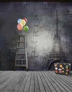5x7ft Paris Eiffel Tower Backdrops Photography Studio Background Muslin Fabric