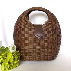 French wicker bag shopping basket by MaisonMaudie on Etsy, $35.00