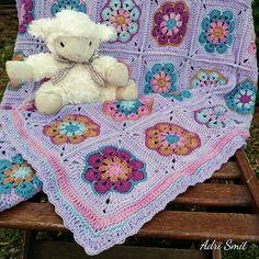 Baby, Toddler African Flower Blanket in Vinnus Nikkim