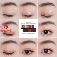 Pin by Maliko on ✿Makeup✿ in 2019 Pin by Maliko on ✿Makeup✿ in - Eye Makeup Natural - Makeup Korean Makeup Look, Korean Makeup Tips, Asian Eye Makeup, Korean Makeup Tutorial Natural, Makeup Trends, Makeup Inspo, Beauty Makeup, Cute Makeup, Makeup Looks