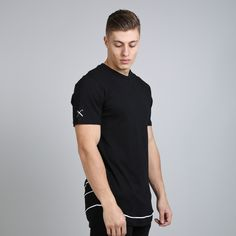 Staple Layered Longline T-shirt - Black  // Click the link to buy or for more info - https://www.king-apparel.com/new-collection/t-shirts/staple-layered-longline-t-shirt-black.html