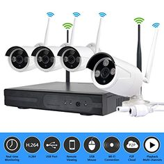 Shop JOOAN Wireless Security Camera System 4 Channel Video Recorder CCTV NVR 4 x Wifi Outdoor Network IP Cameras Good Night Vision. Wireless Security Camera System, Wireless Ip Camera, Home Security Camera Systems, Security Cameras For Home, Home Monitoring System, Security Monitoring, Indoor Outdoor, Cctv Surveillance, Usb