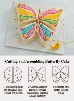 Butterfly cake! Seems easier than all the other beautiful cakes I see.
