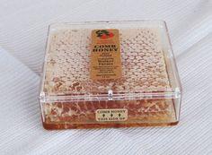 Pure Unprocessed Unfiltered Raw Orange Blossom Honey Comb 14Oz.. $15.00, via Etsy.