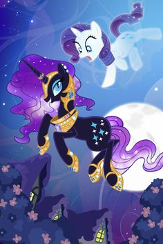 Nightmare Rarity Rooftops by PixelKitties.deviantart.com on @deviantART