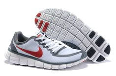 Nike Free Run 5.0 V5 Men Shoes White Red #runningshoes