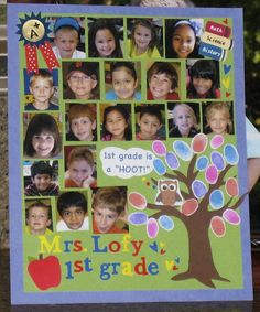 Completed yearbook page for my daughter's 1st grade class!!!