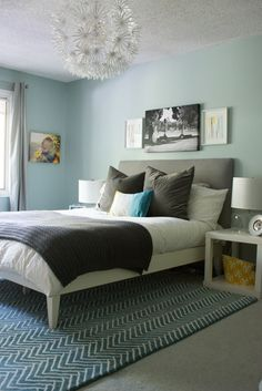 Charming Master Bedroom Art Above Bed