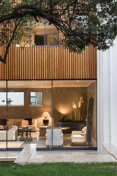 alma-nac Bell House #larchclad #monolithic #architecture #naturallight #open #privategarden #contemporary