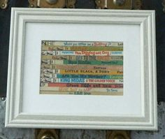 DR SEUSS Framed Wall Art/Decor  Recycled Vintage Book by openbooks, $30.00