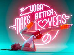 Yoga + Neon Typography1