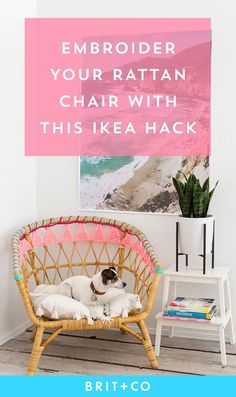 Save this to IKEA hack your Rattan chair for a pop of color in your space.