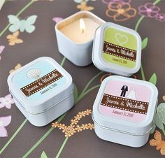 set of 24 personalised candle favours by hope and willow   notonthehighstreet.com