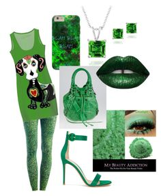 """""""St Patrick's Day"""" by jenae-kg on Polyvore featuring Due., Gianvito Rossi, Glitzy Rocks and Balenciaga"""