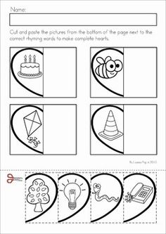 math worksheet : 1000 images about school on pinterest  cut and paste preschool  : Rhyming Cut And Paste Worksheets For Kindergarten