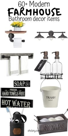 I LOVE these FARMHOUSE bathroom decor ideas from Amazon! I'm so glad I found this useful list! I will be buying #17, #28 and #53 for my rustic farmhouse bathroom. Can't wait to see how it turns out!! PINNING this for later!