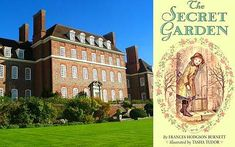 Great Maytham Hall, nr Rolvenden, Kent, England is where Frances Hodgson Burnett wrote 'The Secret Garden' She was inspired by the walled garden when she leased the house from 1898 to 1907 and would sit writing in the 'beautiful old walled kitchen garden'