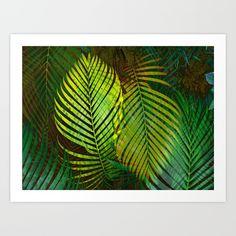 TROPICAL GREENERY LEAVES Art Print by Pia Schneider [atelier COLOUR-VISION] #art #green #leaves #greenery #plants #nature #palmleaves #wallart #decoridea #homedecor #artprints #piaschneider #society6