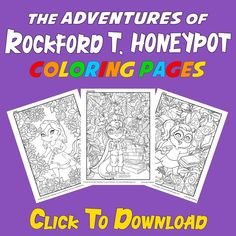 """The Adventures of Rockford T. Honeypot"" will be available to purchase on paperback, as well as eBook on June 23, 2020. Free Kids Coloring Pages, Free Coloring, New Children's Books, Read Books, Family Fun Magazine, Kids Book Series, Honeypot, Finding True Love, Activity Sheets"