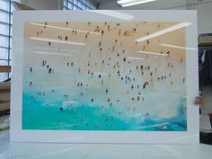 """This is a Gallery Acrylic Sandwich being made at 44""""x62"""". We do sizes up to 60""""x120""""."""